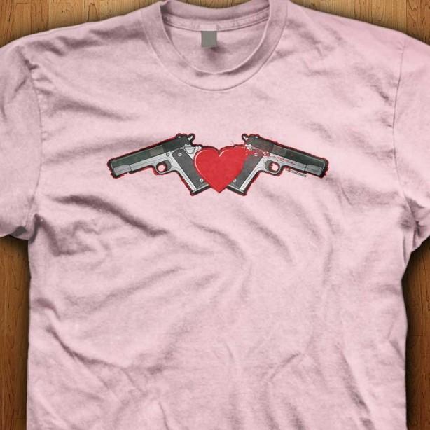 Emo-Gun-Love-Pink-Shirt
