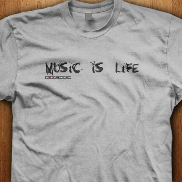 Music-Is-Life-Grey-Shirt