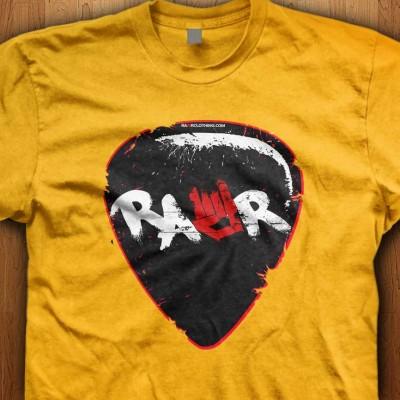 Rawr-Guitar-Pick-Yellow-Shirt