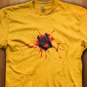 Rock-Horns-Yellow-Shirt