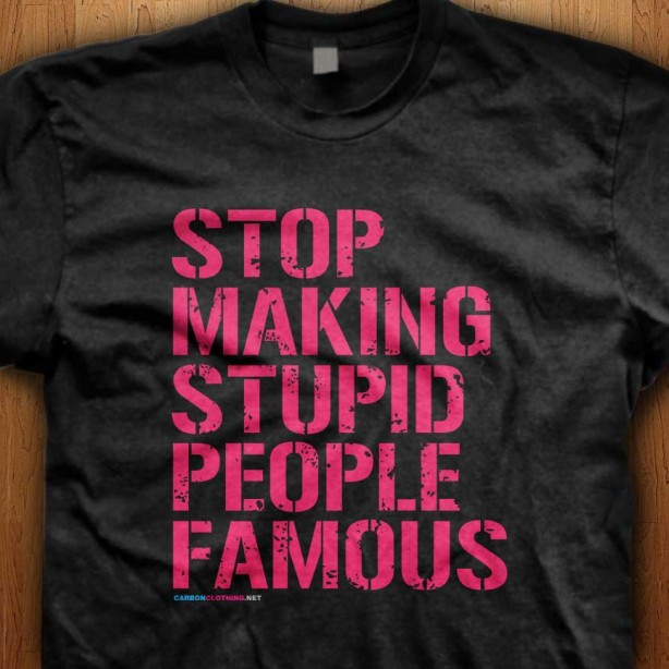 Stop-Making-Stupid-People-Famous-Black-Shirt