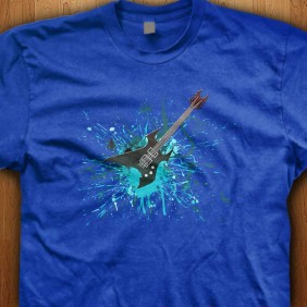 Guitar-Graffiti-Blue-Shirt
