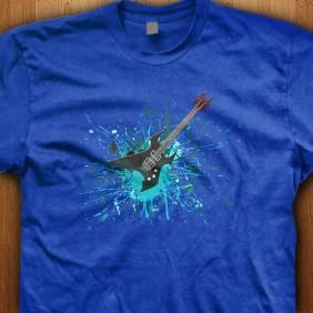 Guitar-Graffiti-Blue-Shirt