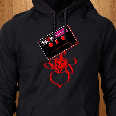 Cassette-Tape-Love-Black-Hoodie
