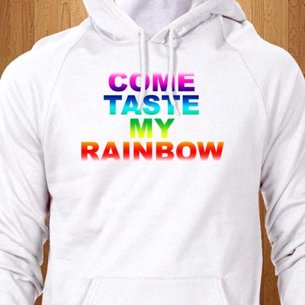 Come-Taste-My-Rainbow-White-Hoodie