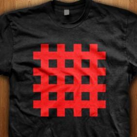 Emo-Red-Stripes-Black-T-Shirt