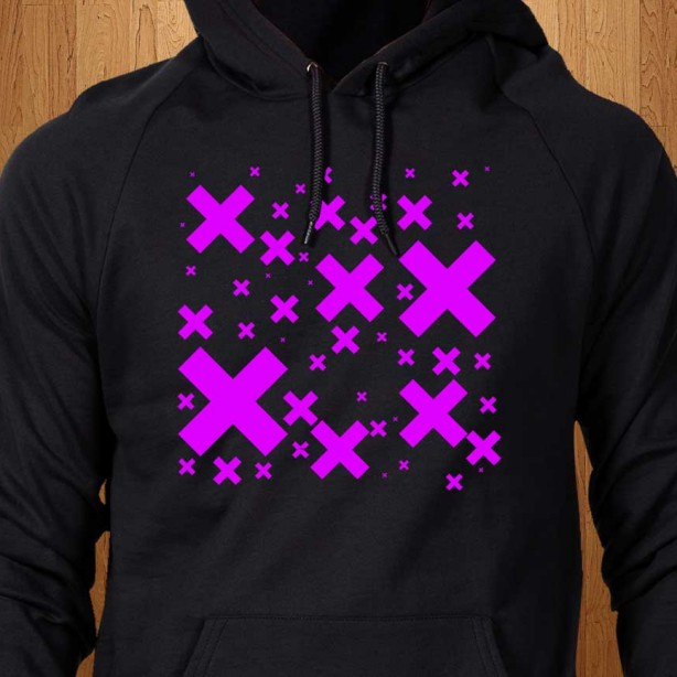 Pink-Emo-Crosses-Black-Hoodie