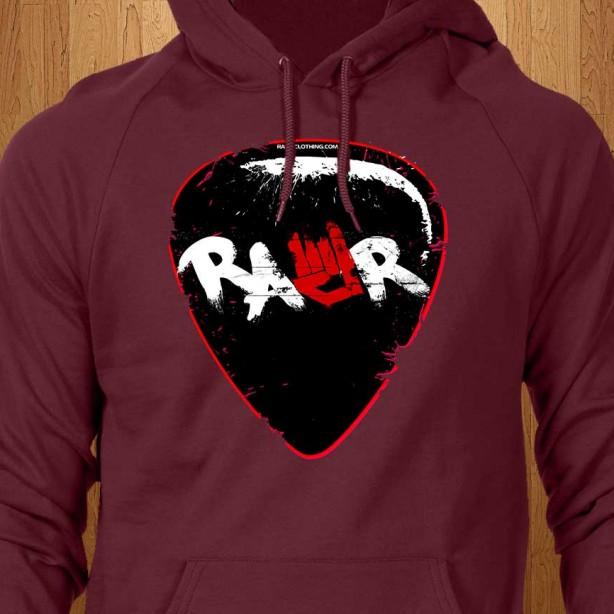 Rawr-Guitar-Pick-Red-Hoodie