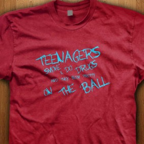 Teenagers-do-drugs-Red-T-Shirt