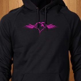Winged-Heart-Black-Hoodie