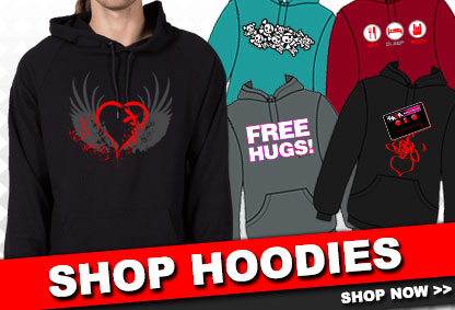emo rock hoodies